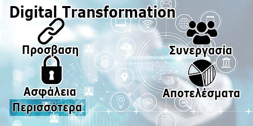 digital transformation banner menu